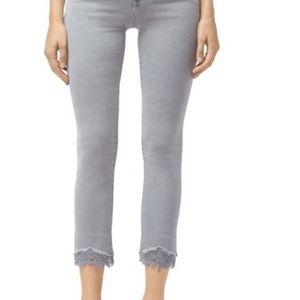 J brand jeans with lace hem